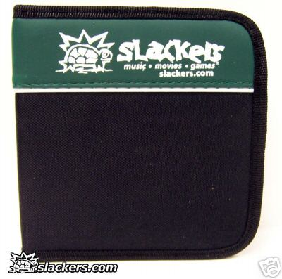Green and Black Slackers Logo 32 Disc CD Wallet - Music Accessory - New