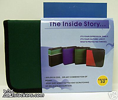 Green 32 Disc CD Wallet - Music Accessory - New