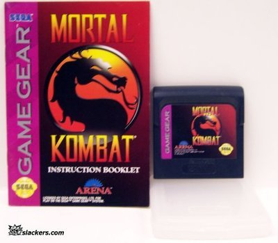 Mortal Kombat with klamshell kase and manual - Game Gear - Used