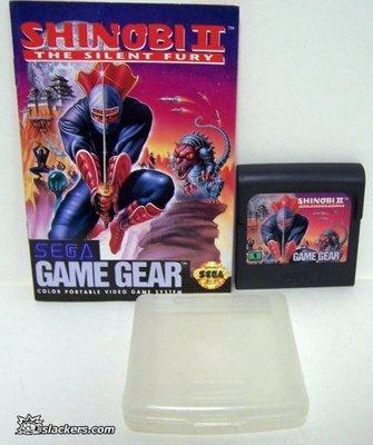 Shinobi II: The Silent Fury with manual - Game Gear - Used