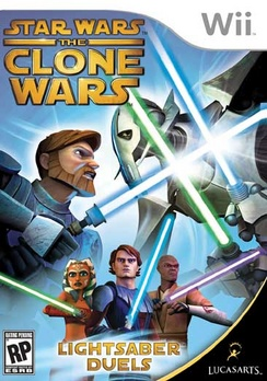 Star Wars The Clone Wars Lightsaber Duels - Wii - Used