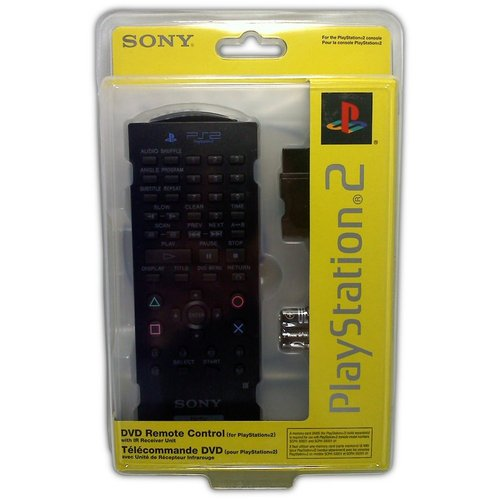Sony DVD Remote with IR Reciever for PS2 - Game Accessory - New