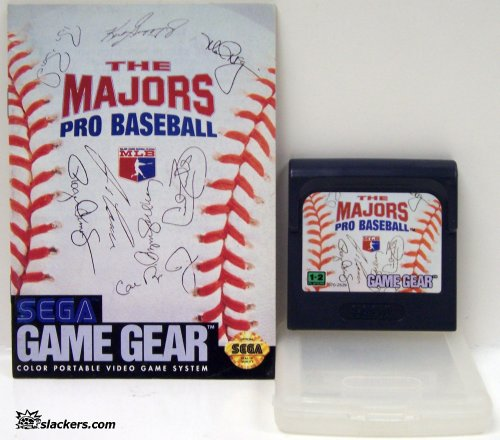 The Majors Pro Baseball with manual - Game Gear - Used