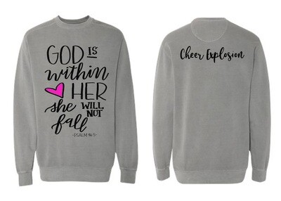 """""""God is within her..:"""" Comfy Over-sized Sweatshirt"""