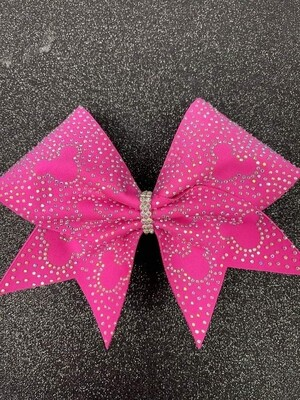 Hot Pink Minnie Mouse Cheer Bow