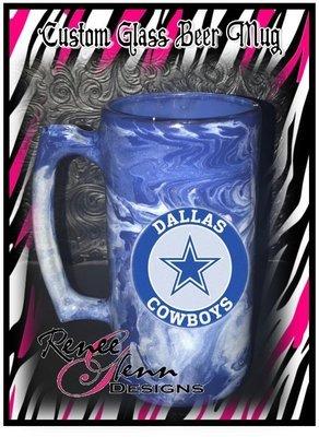 Custom Glass Sports Mug