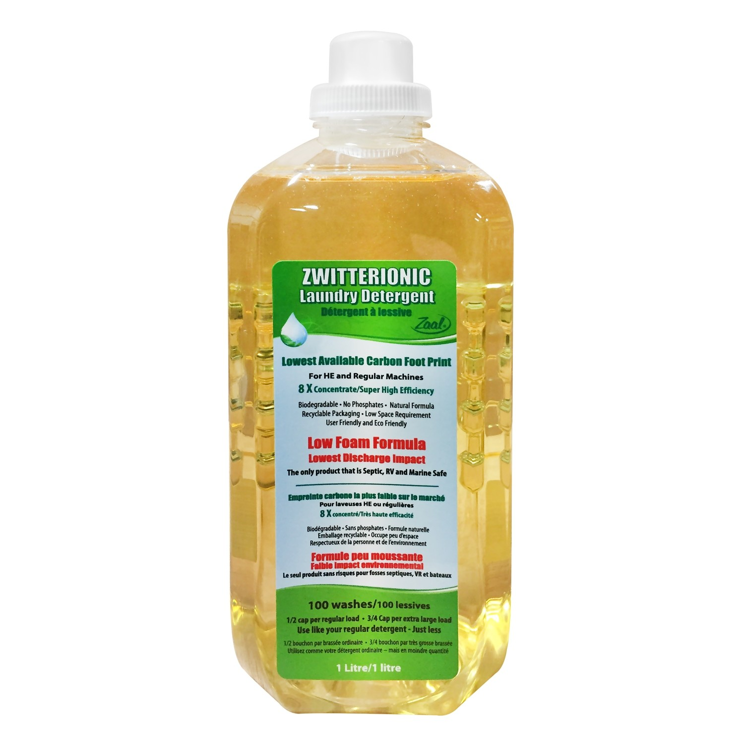 Zwitterionic Low Foam HE Laundry Detergent - CASE OF 6