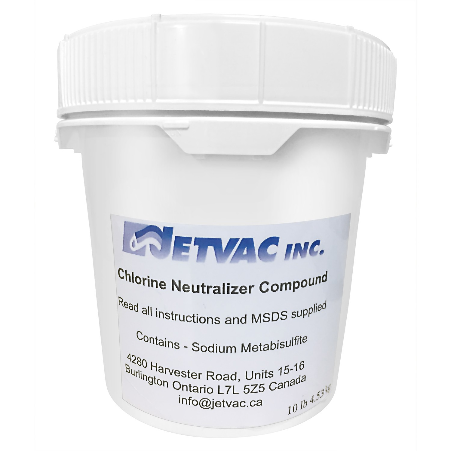 Chlorine Neutralizer Compound With Sodium Metabisulfite - 10 lb PAIL