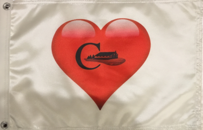 Flag with Heart/Clubhouse Logo (Front and Back)