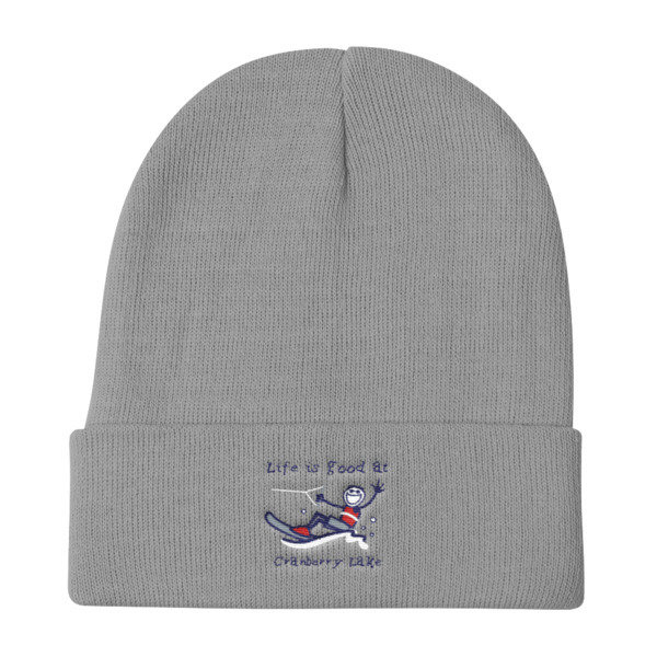 Knit Beanie - Life is Good at Cranberry Lake