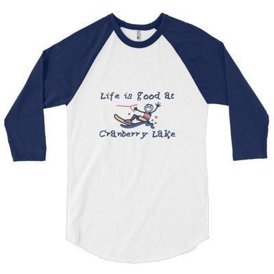 3/4 sleeve raglan shirt -Life is Good at Cranberry Lake