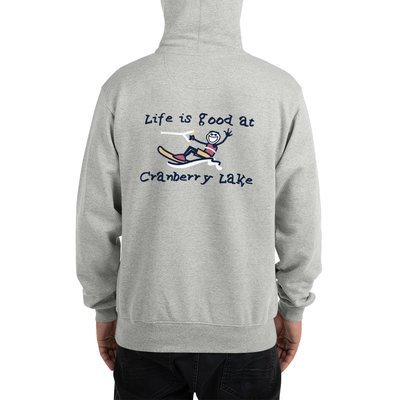 Champion Hoodie - Life is Good at Cranberry Lake