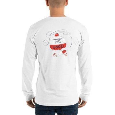 Long sleeve t-shirt (unisex) CLCC Logo (front) and Fishing Bobber (back)