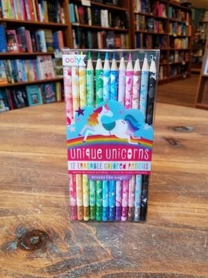 Unique Unicorn Erasable Colored Pencils