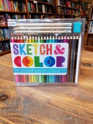 Sketch & Color Colored Pencils