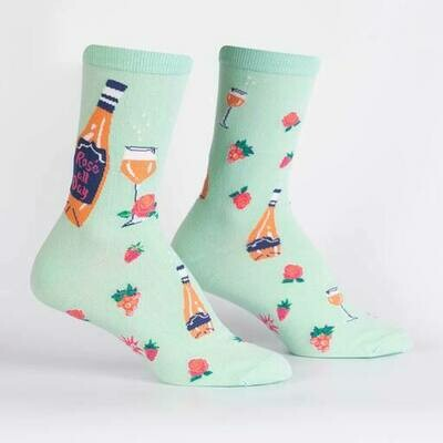 Women's Crew Socks - Rosé All Day