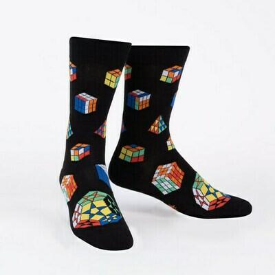 Men's Crew Socks - Puzzle Box Socks