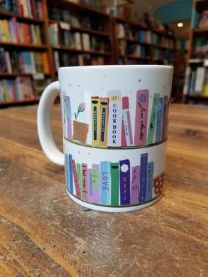 Colorful Bookshelf Mug