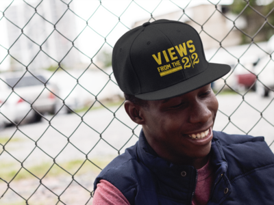 """""""Views From The 22"""" Hat: Black"""