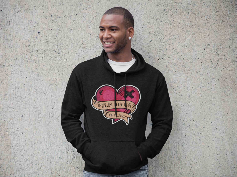 """""""Film Over Feelings"""" Hooded Sweatshirt: Black"""