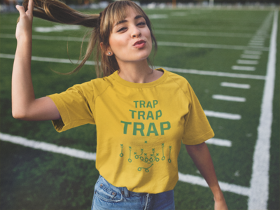 """Trap Trap Trap"" Short-Sleeve Unisex T-Shirt: Gold"