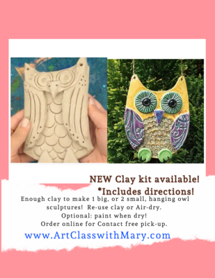 Clay Owl Kit