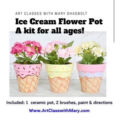 An Ice Cream Flower Pot kit