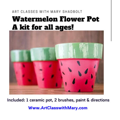 A Watermelon Flower Pot kit