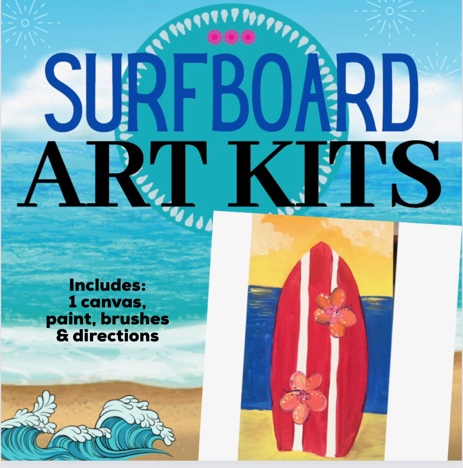 Sunset Surfboard Painting Kit