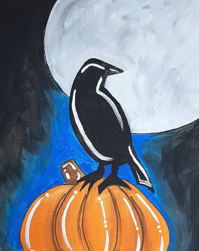 Halloween Raven Pumpkin Painting Kit