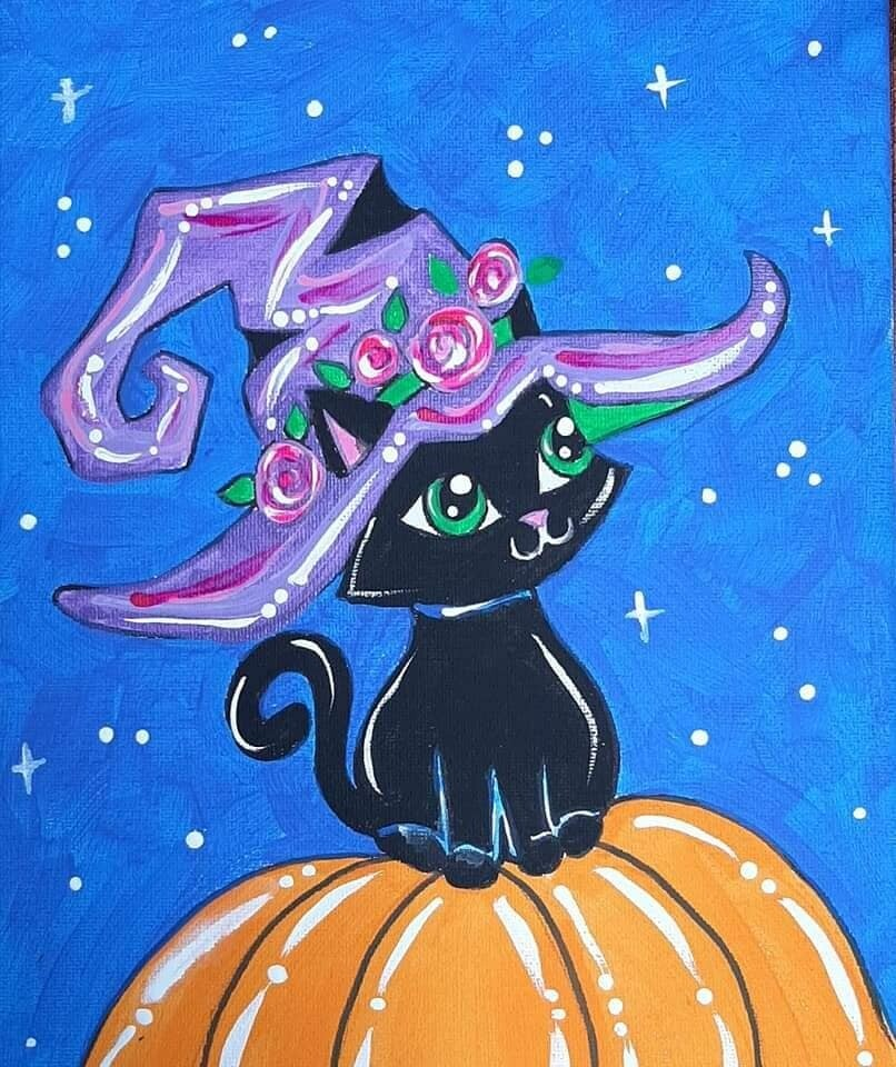 Halloween Kitty Witch Painting Kit