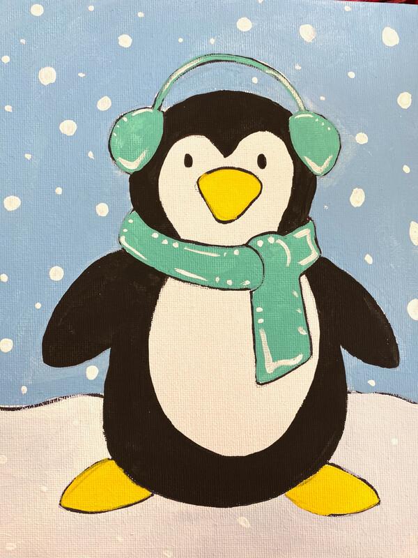 Happy Penguin Paint Kit