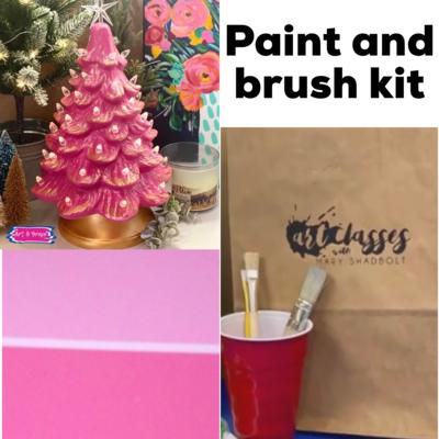 Paint & Brush Kit For Valentine Tree