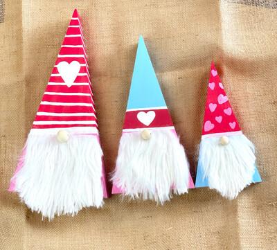 A Valentine Wooden Gnome Kit