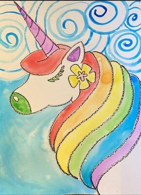 Rainbow Unicorn Watercolor Kit