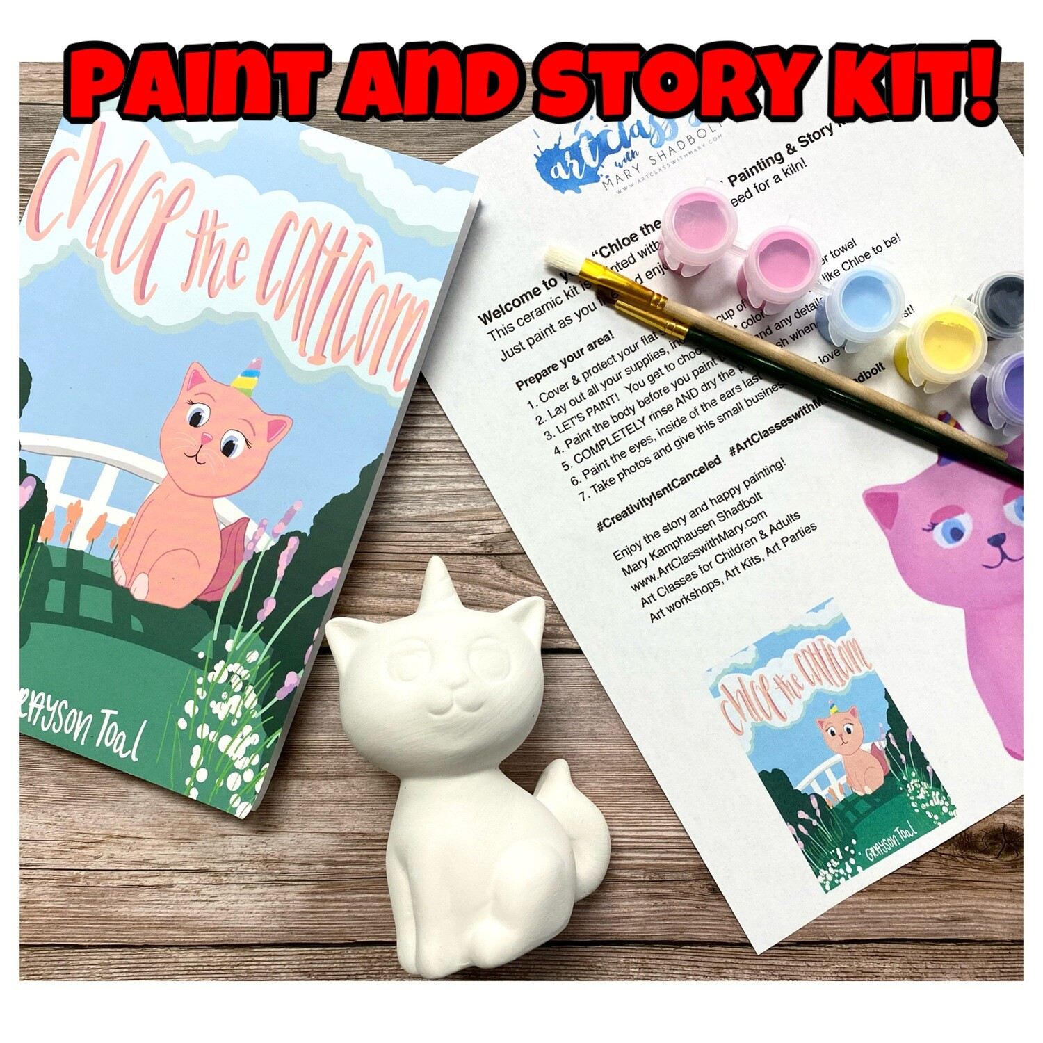 Chloe the Caticorn Paint and Story Kit!
