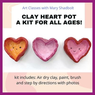 Clay Heart Pot kit