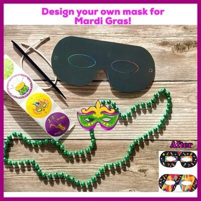 Design your own Mardi Gras Mask