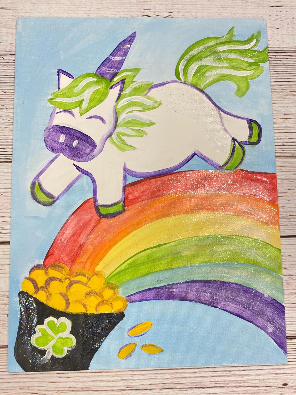 Lucky Unicorn Glitter Painting Kit