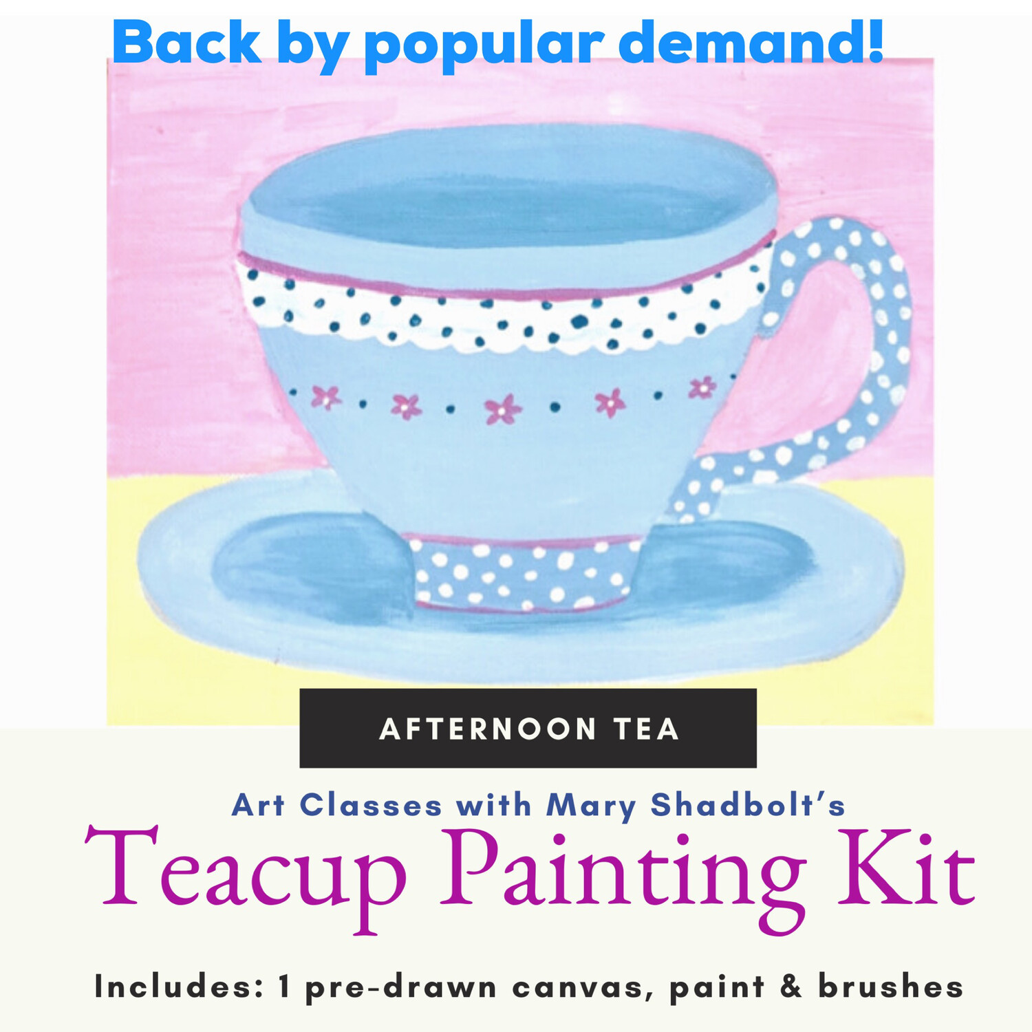 """Afternoon Tea"" Paint Kit"