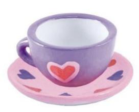 Tea Cup and Saucer Ceramic Paint kit!
