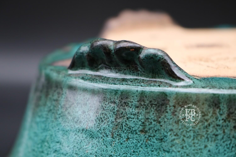 M. J. G. Ceramica - 35cm; Commission piece; Oval; Stunning Green Glaze; Cloud feet; Maria Gonzalez