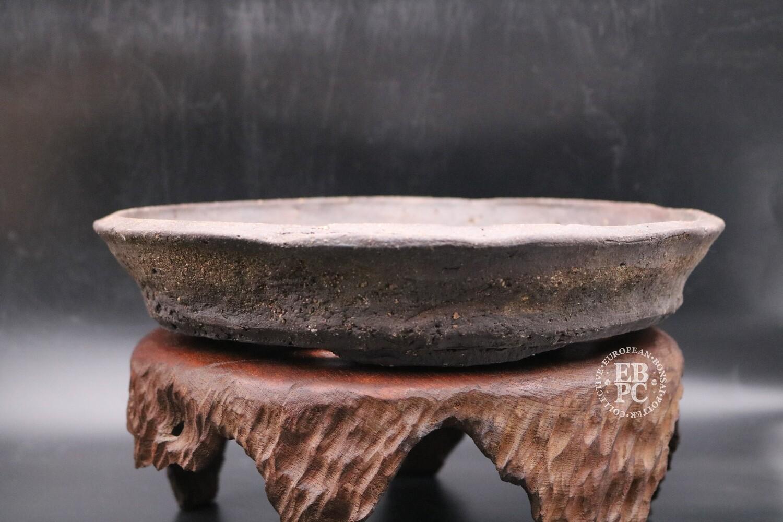 SOLD - Bryan Albright - 28.5cm; Round; Nanban; Dark Brown; Light Browns