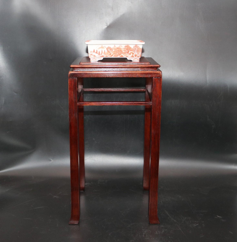 SOLD - Doug Mudd Bonsai Tables -   38cm (h); Tall Cascade Table; Protective box; High-quality finish; Rarely available