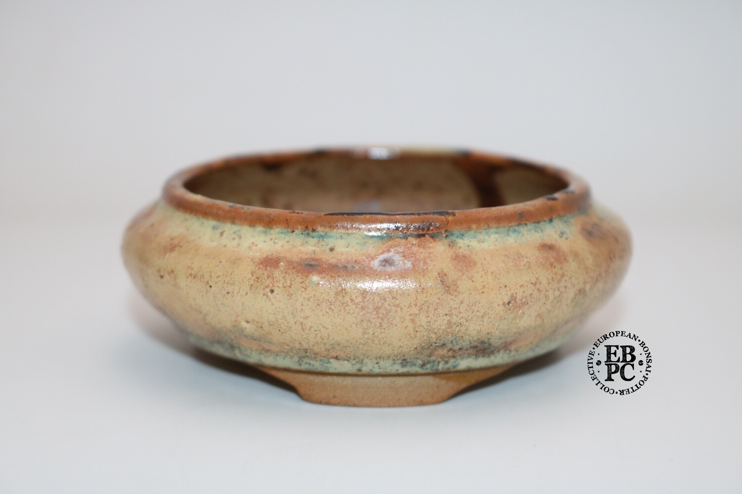 PAS Pots - 9.2cm; Round; Shohin / Mame / Accent pot; Hand Thrown; Superb Glaze; Aged-Looking glaze; Detailed foot ring; Patricia