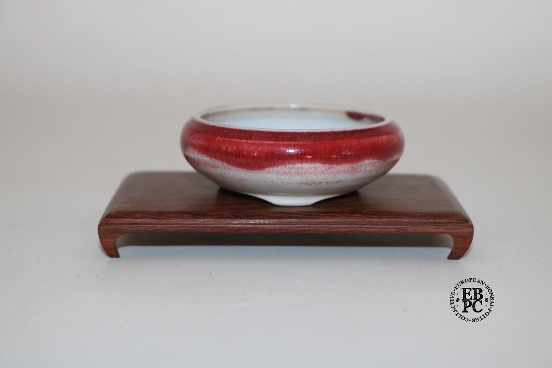 PAS Pots - 6.7cm  'Sang De Boeuf; Round; Mame / Accent pot; Hand Thrown; Superb Glaze; Detailed foot ring; Patricia