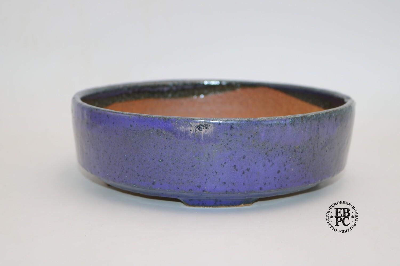 Miroslav Znamenáček - 22.4cm; Glazed; Round; Purple; Recessed Feet.