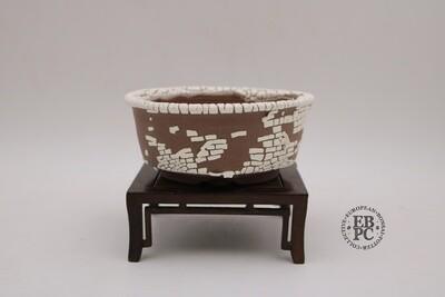 Terre en Vadrouille - 14.3cm; Round; Crawling Glaze (Kairagi yu); great proportions; A fine piece!