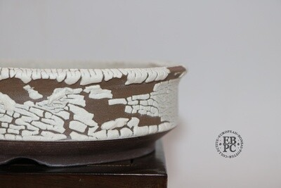 Terre en Vadrouille - 14.8cm; Round; Crawling Glaze (Kairagi yu); great proportions; A fine piece!