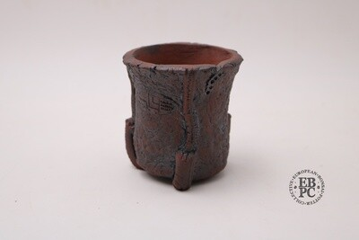 M.B. Berenbrinker - 8cm; Cascade / Accent; Concept piece; Round; Unglazed; Brown; Sculpted detail; Marc Berenbrinker